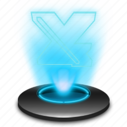 business, document, excel, hologram, microsoft, office icon