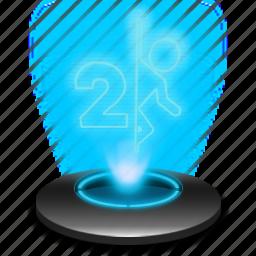 game, hologram, portal, portal2, portalgame icon