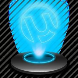 download, hologram, internet, itorrent, ktorrent, torrents, utorrent icon