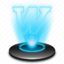 document, file, hologram, microsoft, office, text, word icon