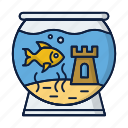 aquarium, aquarius, fish, pet, water icon