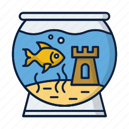 aquarium, aquarius, fish, pet, water icon