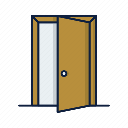 door, entrance, exit, home, house, open icon
