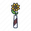 comfort, flower, grow, home, plant, pot, sun icon