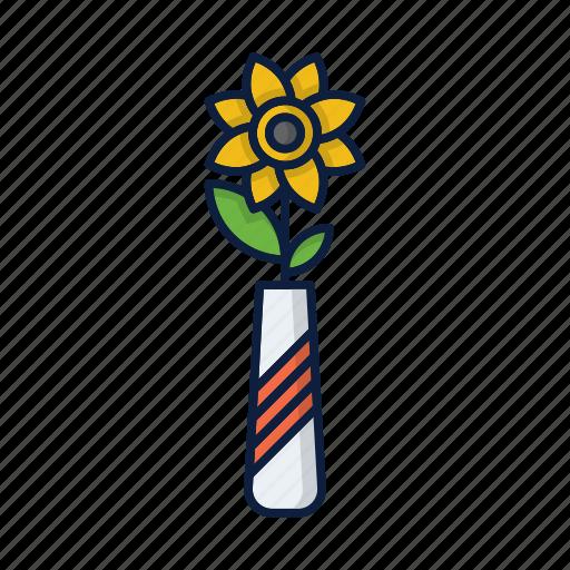 comfort, flower, grow, home, plant, pot, sun icon