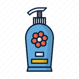 bottle, conditioner, cosmetics, hair, shampoo, soap icon