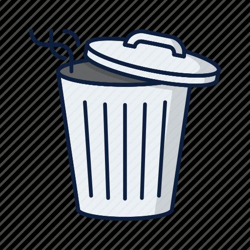 bin, can, delete, garbage, recycle, remove, trash icon