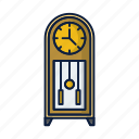 clock, house, timedecoration, vintage, watch icon