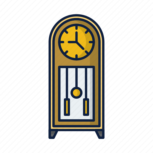 clock, house, timedecoration, vintage, watch icon