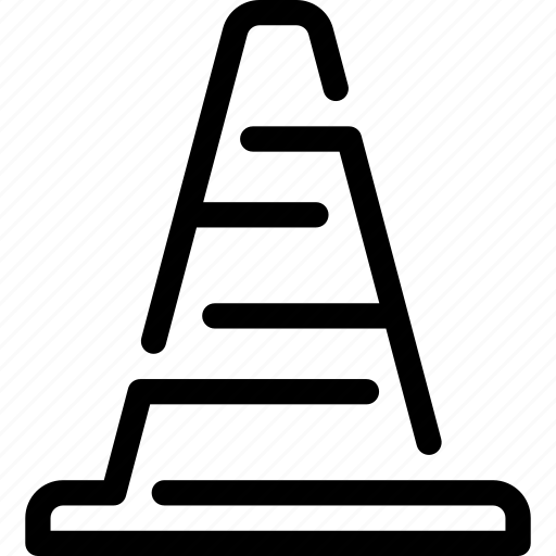 cone, construction, road icon
