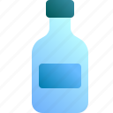 bottle, container, drink, glass, label icon