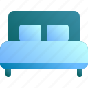 bed, double, furniture, home, hotel icon