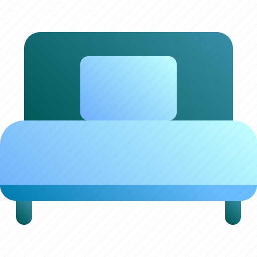 bed, furniture, home, hotel, single icon