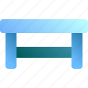 desk, furniture, interior, table, wood icon