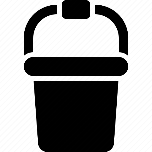 appliance, bucket, container, housework, plastic icon