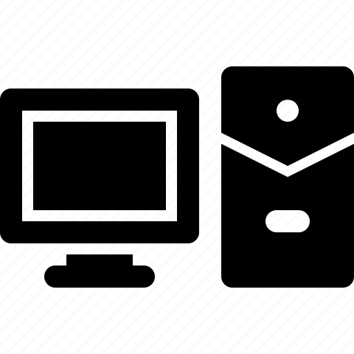 computer, cpu, monitor, screen, work icon