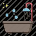 bath, bathroom, shower, tub
