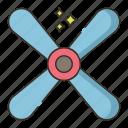 air, ceiling, fan, wind icon