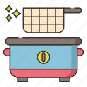 fryer, kitchen, food, cooking icon