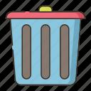 disposal, garbage, trash, waste icon