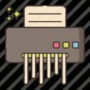document, paper, sheet, shredder icon