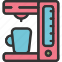 cappucino, coffee, hot water, maker, tea icon