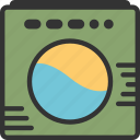 bath, clean clothes, wash, washing machine, water icon