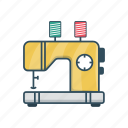 home, machine, sewing, stitching, tailor icon