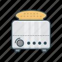 appliances, bread, breakfast, home, toaster