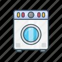 appliances, home, laundry, machine, washing icon