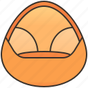 bag, bean, comfortable, furniture, seat icon