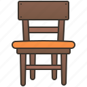chair, dining, furniture, home, seat icon