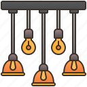 chandelier, decoration, interior, lamp, lighting icon