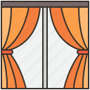 curtain, fabric, interior, room, window