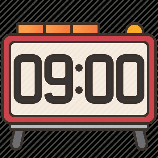 alarm, bedroom, clock, digital, time icon