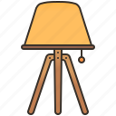 decoration, lamp, lighting, room, standing icon