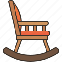 chair, furniture, home, rocking, seat icon