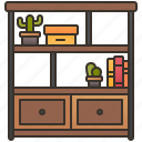 decoration, furniture, interior, room, shelf icon