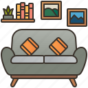 comfortable, living, room, seat, sofa icon