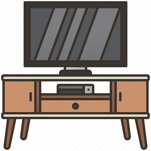 entertainment, living, room, table, television icon