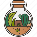 decoration, natural, plant, pot, terrarium icon