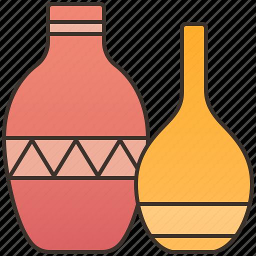 ceramic, decoration, flower, pot, vase icon
