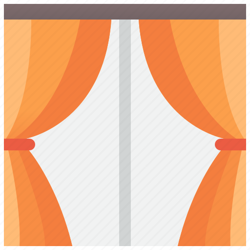Curtain, fabric, interior, room, window icon - Download on Iconfinder