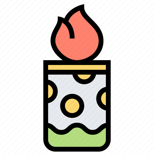candle, decoration, fire, flame, light icon