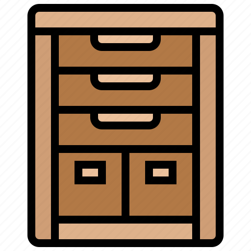 cabinet, decorate, drawer, furniture, interior icon