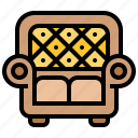 couch, decorate, furniture, interior, sofa icon