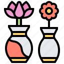 decoration, flower, plant, vase icon