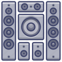home, speakers, system, theater icon