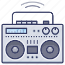 boombox, digital, music, player icon