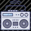 boombox, digital, music, player icon